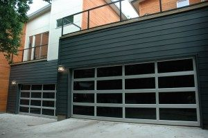 contemporary style glass garage door fox point wi